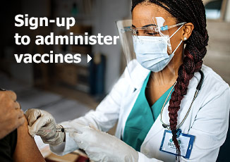 Sign-up to administer vaccines