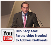 HHS Secy Azar- Partnership are needed to address biothreats