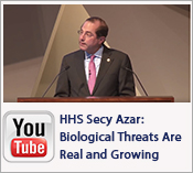 YouTube Video: HHS Secy Azar - Biological threats are real and they are growing