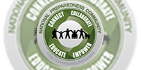 Seal of the National Preparedness Community.  COnnect.  Collaborate.  Educate.  Empower.