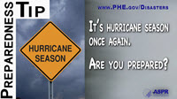 Preparedness Tip thumbnail:  It's Hurricane Season Once Again.  Are You Ready?