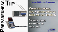 Preparedness Tip Thumbnail:  Charge Cellphones
