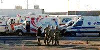 Ambulance deployment during Hurricane Sandy