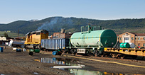 Cargo train of chemicals