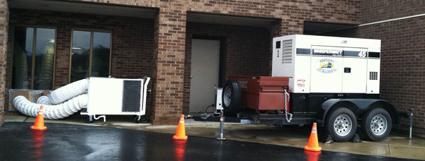 KDPH HPP 45kW Generator and Portable AC Unit supporting hospital clinical areas at Morgan County.