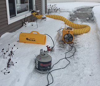 Propane gas and electric heaters used for alternate sources of heat