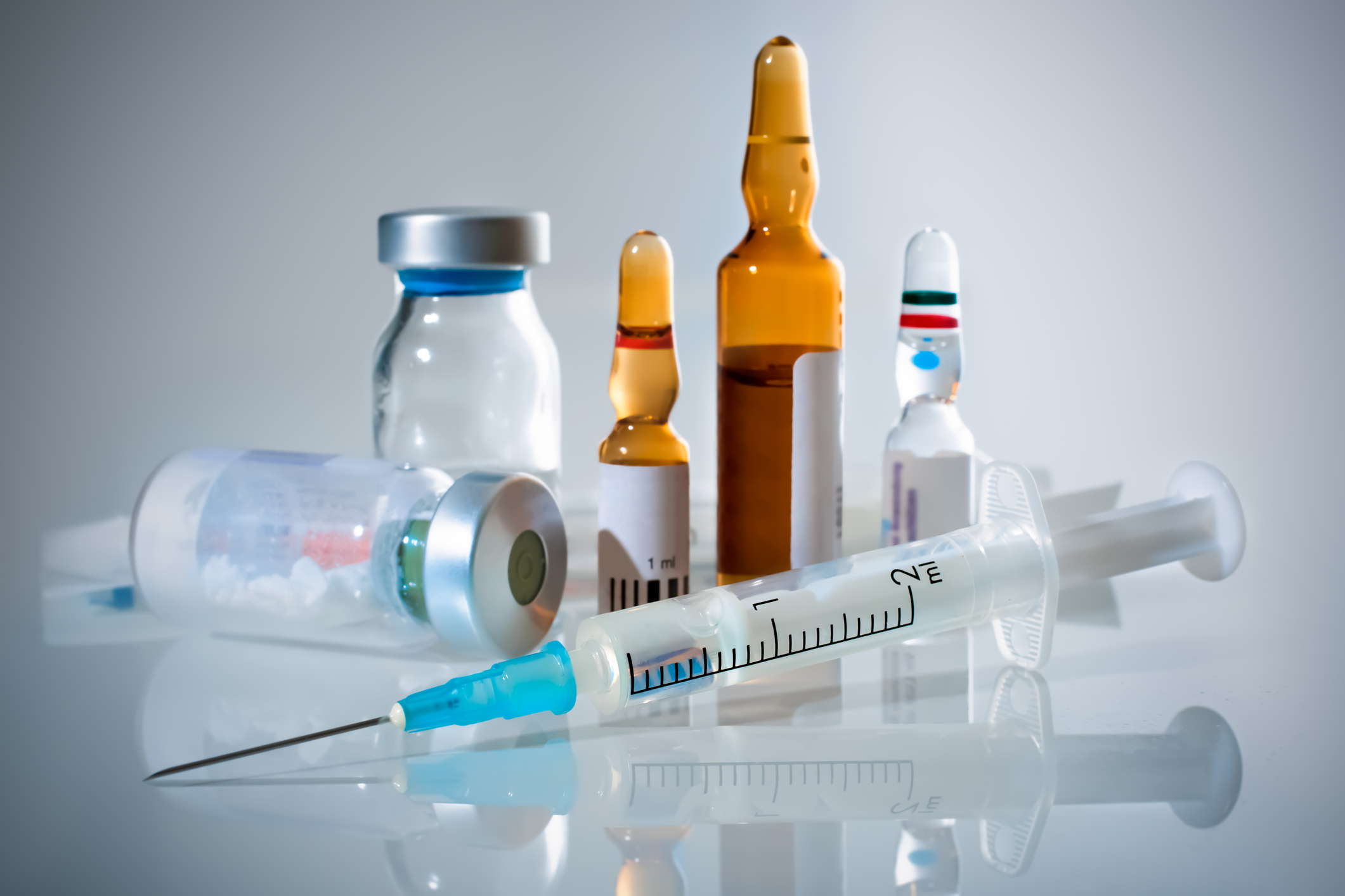 drug and vaccine vials