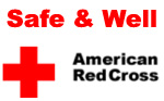 Safe and Well.  American Red Cross