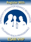 Register with Emergency System  for Advance Registration of  Volunteer Health Professionals