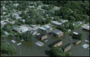 Flooded residential area