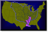 Icon of the Mississippi River Drainage Basin.  For more information and a full description, see http://www.mvn.usace.army.mil/bcarre/missdrainage.asp