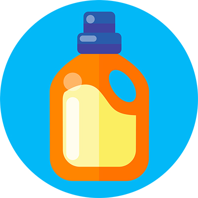 Illustration of a bottle of detergent