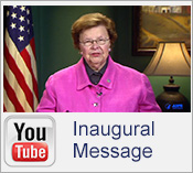 Icon for the Innaugural Message to the NACCD by Senator Mikulski