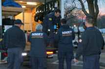 NRMT responders unload medical equipment
