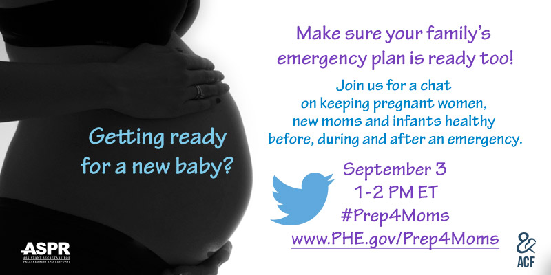 Twitter card for the #Prep4Moms chat