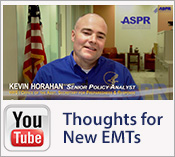 YouTube Icon.  Thoughts for New EMTs by Kevin Horahan