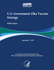 Cover of the White Paper for Zika Vaccine Development Strategy  ​