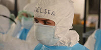 Doctor responding to the Ebola outbreak in West Africa