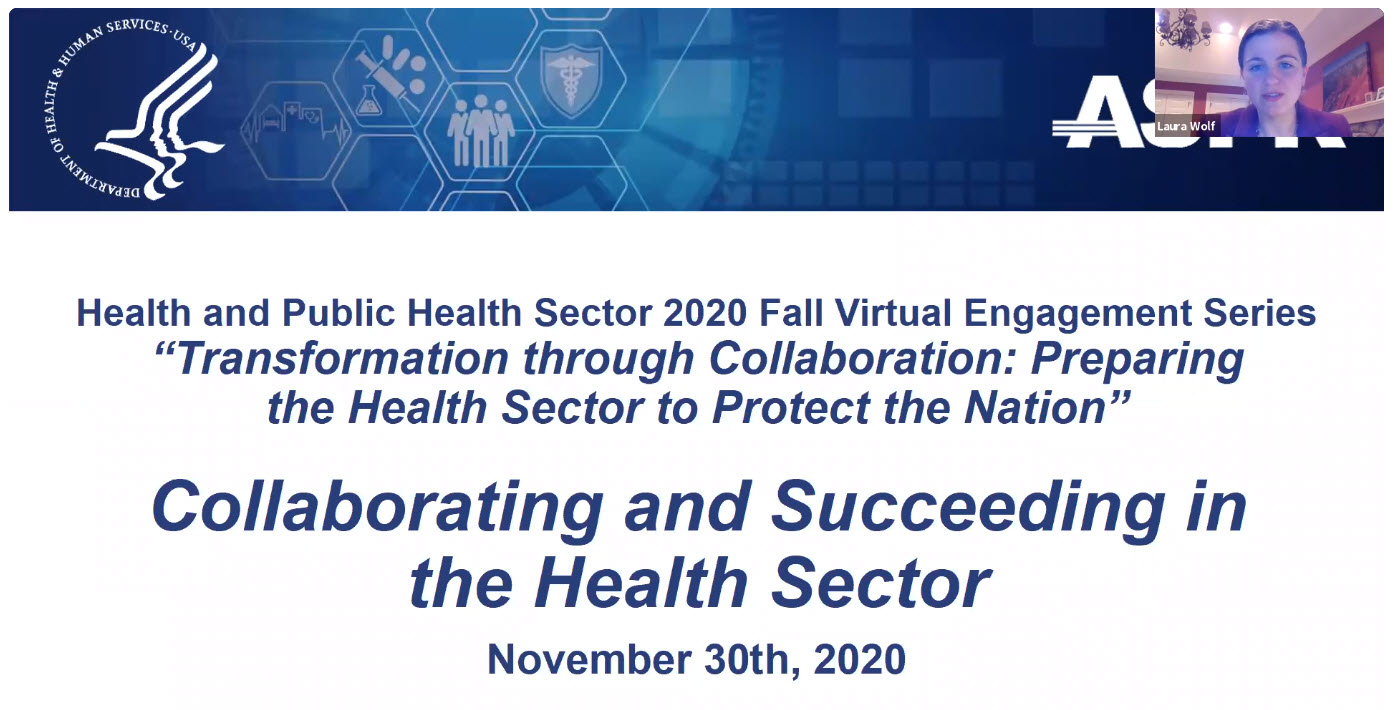 Video Thumbnail: Healthcare and Public Health (HPH) Sector 2020 Fall Virtual Engagement Series