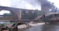 Picture of collapsed bridge