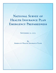 Cover of the National Survey of Health Insurance Plan Emergency Preparedness Report