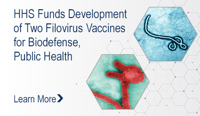 HHS Funds Development of Two Filovirus Vaccines for Biodefense, Public Health. Learn more.