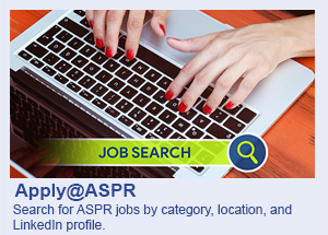 Apply@ASPR: Search for ASPR jobs by category, location and LinkedIn profile.