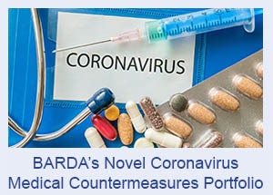 BARDA's Novel Coronavirus Medical Countermeasures Portfolio