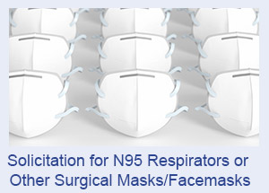 N95 respirators or other surgical masks/facemasks