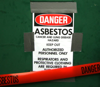 Asbestos warning 