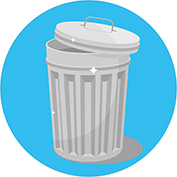 Illustration of a trash can